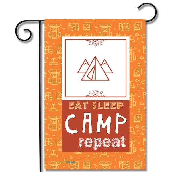 Camping Flag Eat Sleep Camp Repeat