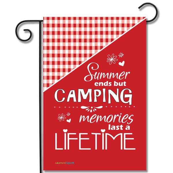 Campsite Flag Summer Ends But Camping Memories Last A Lifetime