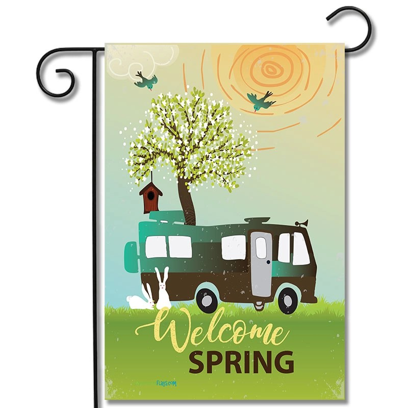 Garden Flag Welcome Spring Motorhome