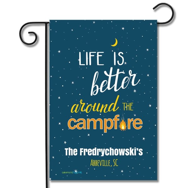 Personalized Camping Flag Life Is Better Around The Campfire