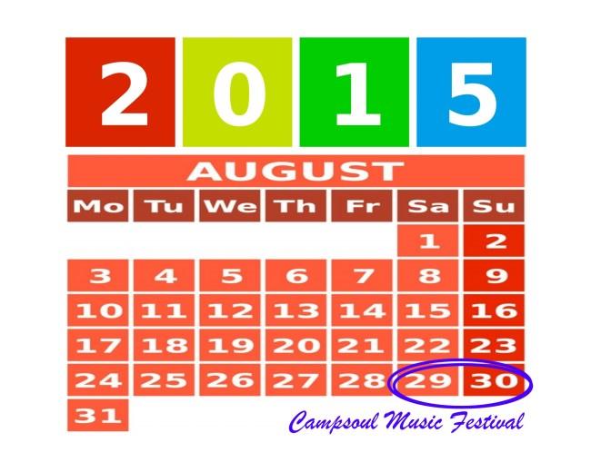 Campsoul Music Festival 2015 dates