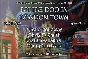 Little Doo in London Town flyer