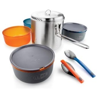 GSI Glacier Stainless Dualist Backpack Camp Cook Set