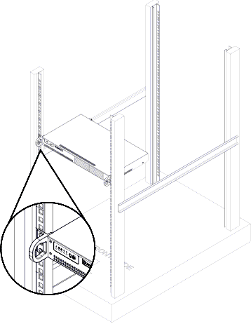 1U Chassis Rack (Four Screw) Mounting Instructions