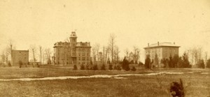 Saint's Rest, Williams Hall, and College Hall. Image courtesy of MSU Archives & Historical Collections