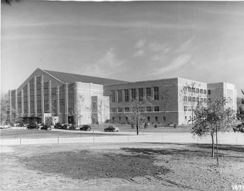 Jenison Fieldhouse, 1940, via MSU Archives and Historical Records
