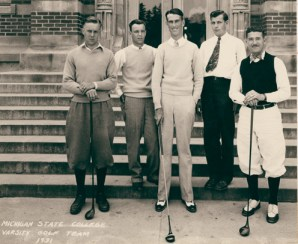 MSC Golf Team 1931, via MSU Archives and Historical Records