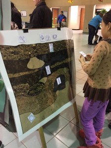 A student plays our new stratigraphy game