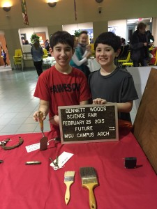 Students at the Bennett Woods Elementary School Science Fair