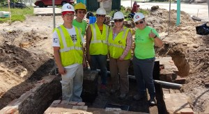 Excavation Crew in Completed Privy