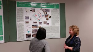 Dr. O'Gorman and Amy Michael discuss a poster presentation