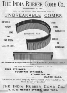 India Rubber Company Ad for Unbreakable Combs - Image Source