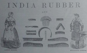 Indian rubber comb ad