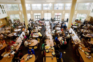 "Students eating at ""The Vista at Shaw"", Image Source"