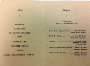 1939 menu banquet