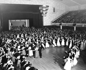 1930 conga line. Image courtesy of MSU Archives & Historical Collections