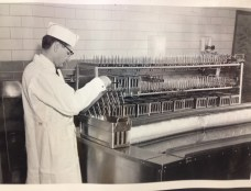 M.S.C. Diary Plant worker making ice cream bars. Image courtesy of MSU Archives & Historical Collections.