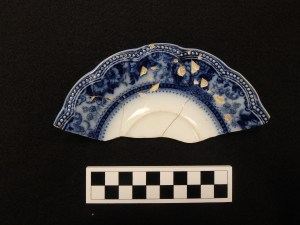 """Early 20th Century Flow Blue Johnson Brothers """"Montana"""" Pattern"""