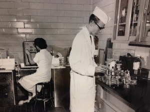 Dairy Lab Research, date unknown (Image courtesy of MSU Archives & Historical Collections)