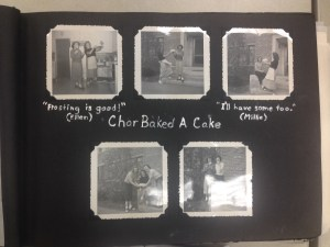 Page from the 1949 Bayha House Scrapbook. Image used with permission of MSU Archives & Historical Collections