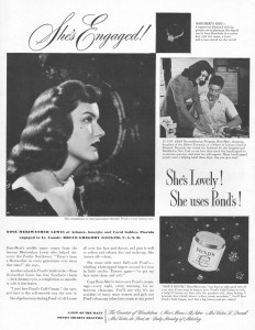 Pond's cold cream ad from 1946. Image source.