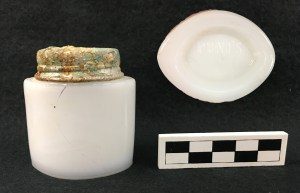 Pond's cold cream jar recovered from Brody