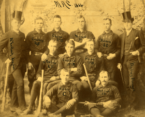 1886 M.A.C. baseball team. Courtesy of MSU Archives and Historical Collections.