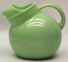 Fire-King ball jug – the holy grail of jadeite collectables. Image Source.