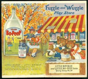 "Advertising pamphlet featuring a Fuzzie Wuzzie Fairy Story and ""Daddy Puhl and his kiddies"""