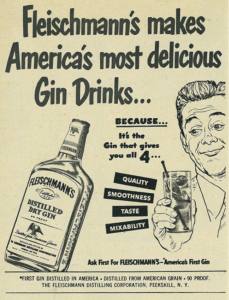1949 Fleischmann's Gin ad in the July 19th edition of Look Magazine.