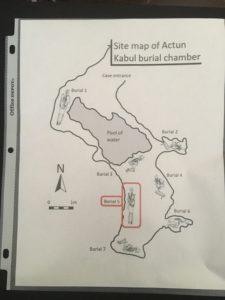 Map of Site D - Actun Kabul