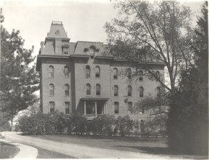 The earliest boarding clubs were housed in Wells and Williams Halls. Williams Hall, date unknown. Courtesy of MSU Archives & Historical Collections. Image Source.