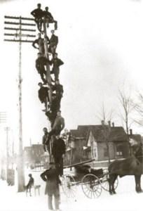 Michigan Bell Telephone Crew ca. 1890. Image source