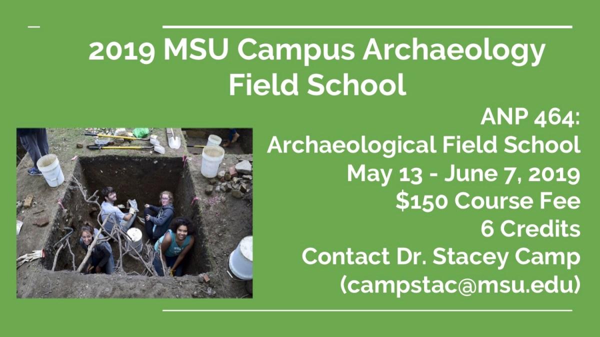 2019 CAP Field School flyer