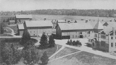 Veterinary Laboratory with barns, dated to 1886. Image courtesy of Beal (1915:154).