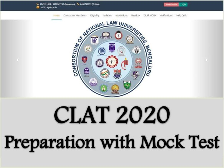 Mock Test Format of CLAT 2020 Revised