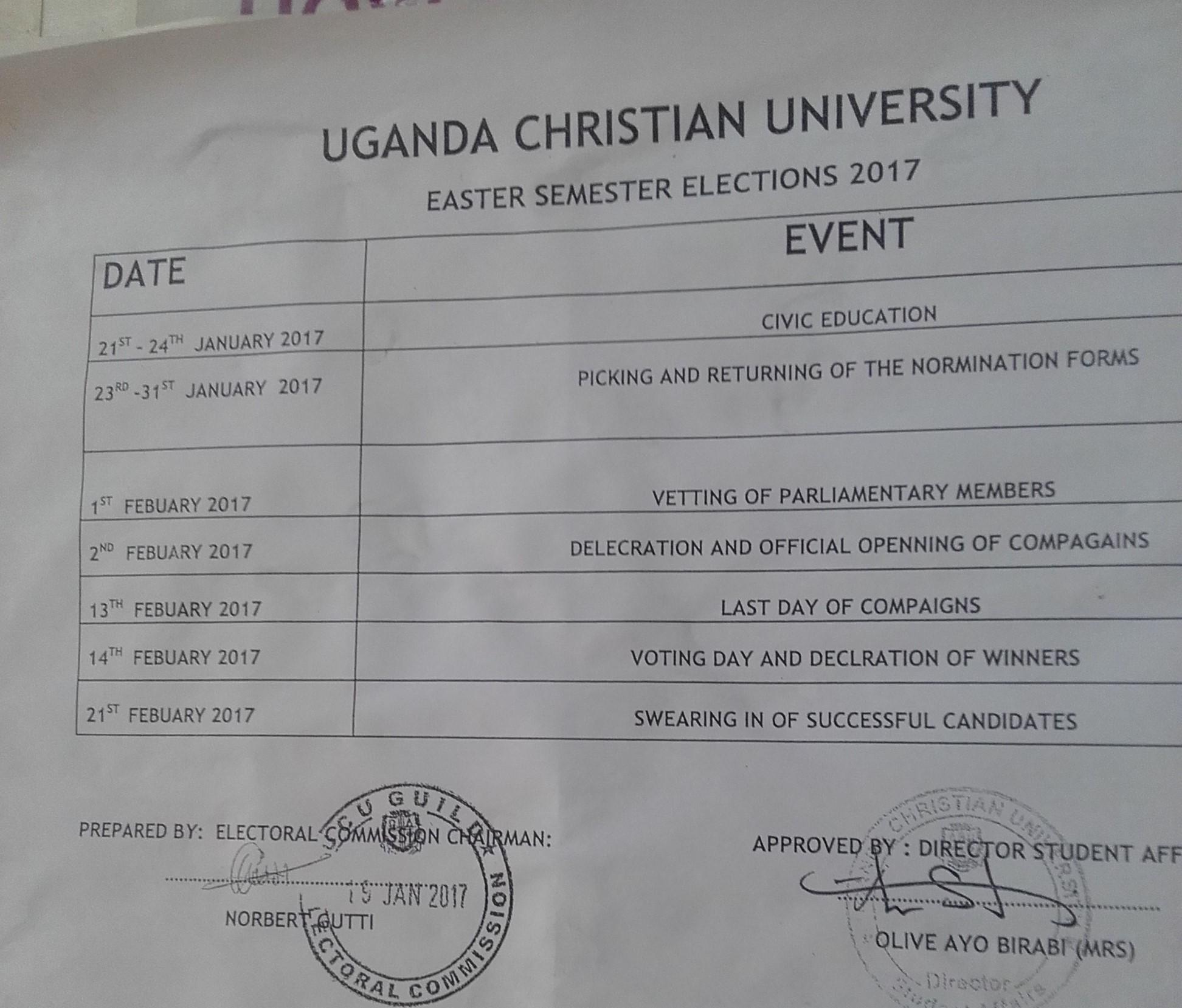 UCU electoral commission sets timeline for second phase of