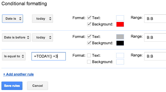 Extending Conditional Formatting in Google Sheets Using Dynamic Date ...