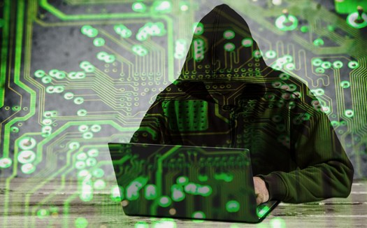 image of computer hacker