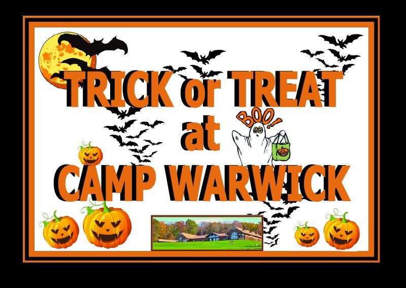 Camp Warwick Halloween Eve Trick or Treat Event