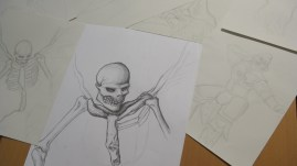Drawing research by Stirling, Year 12 Corby Academy
