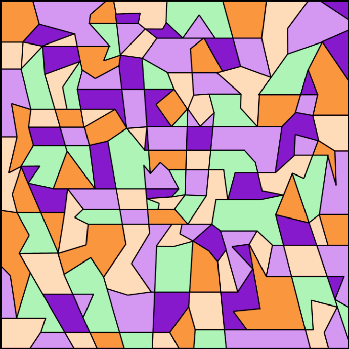 Pastel Contrast Geometric Abstraction