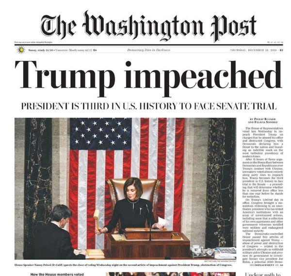 Washington Post: Trump impeached