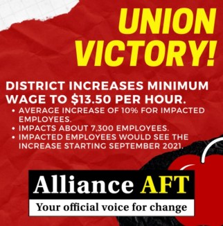 Banner outlining text below on pay victor for Alliance AFT