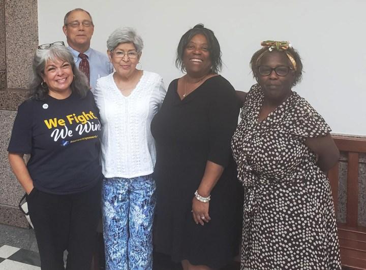 Lydia Lydia Carrillo-Valdez, Ralph Cruzan, Becky Ovalle, Rita Runnels, and Phyllis Ruffins at Capitol