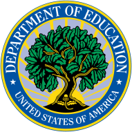 US Department of Education Logo with tree growing into a sunburst