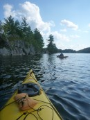 On the water at Charleston Lake