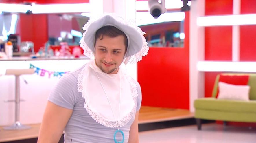 Jon enjoys his baby costume