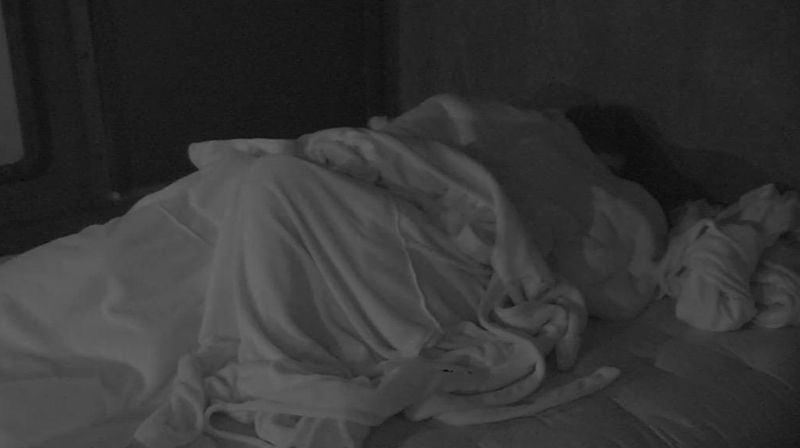 Zach and Ashleigh makeout in Have Not room