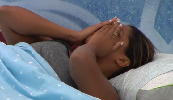 Brittnee Blair crying in the BBCAN3 house